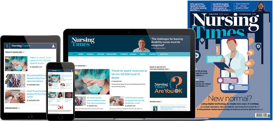 Full range of Nursing Times magazine products